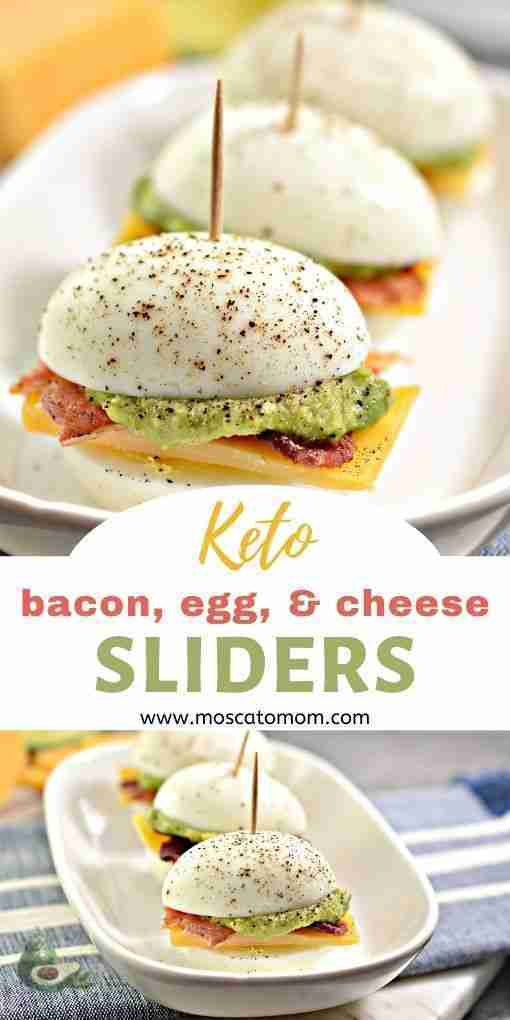 Easy Keto Appetizer – Bacon, Egg, and Cheese Sliders