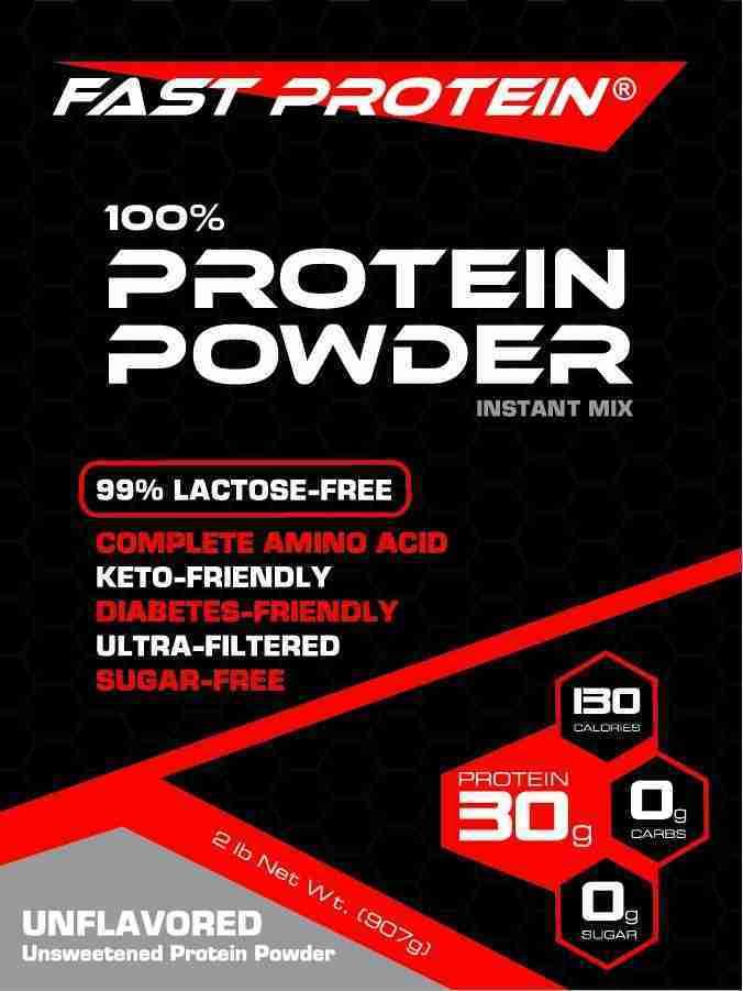 Fast Protein Powder Keto-Friendly Unflavored 2 lb