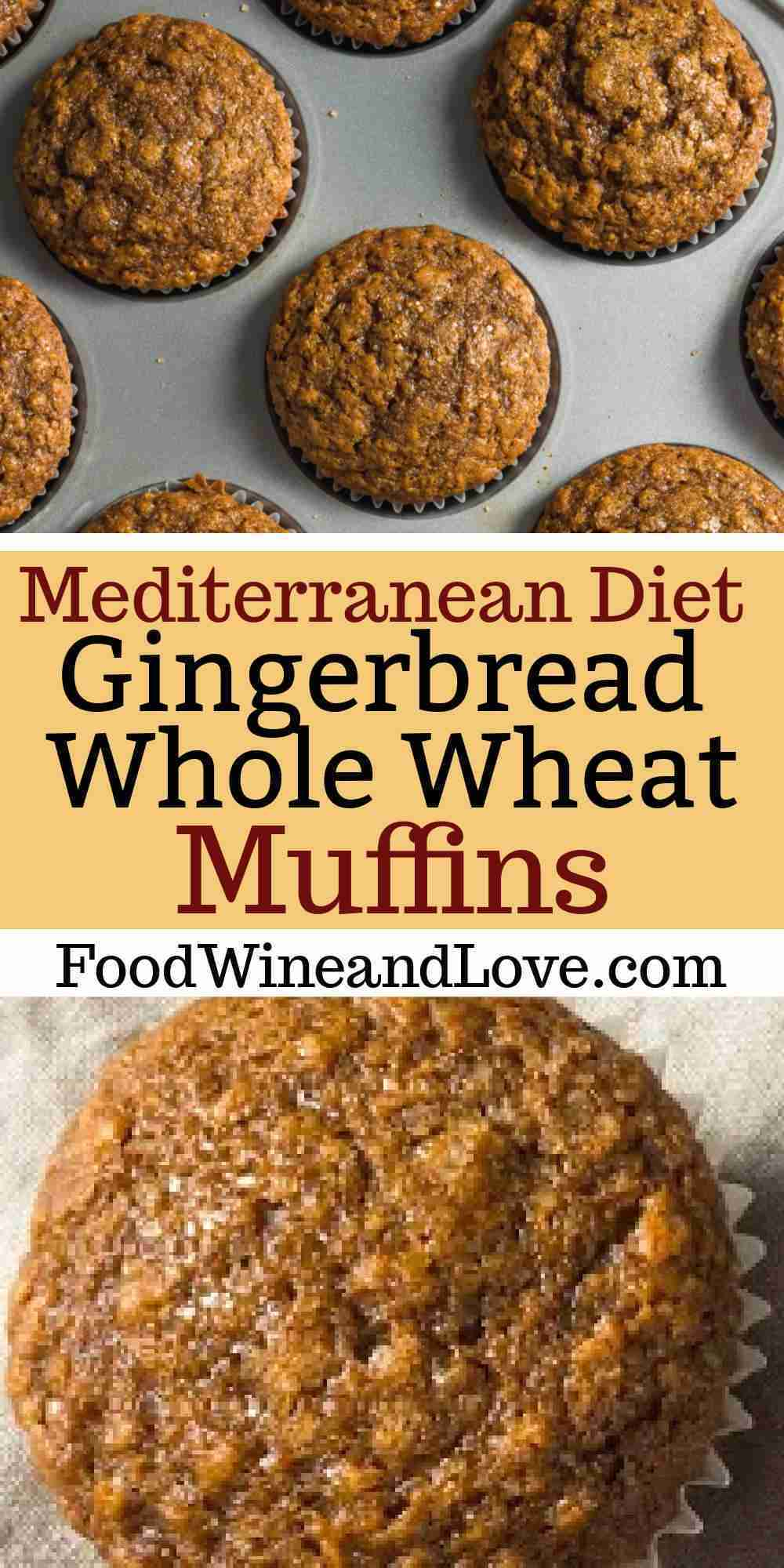 Gingerbread Whole Wheat Muffins, perfect healthy muffin recipe for fall and holi…