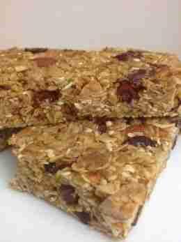 Healthy Homemade Granola Energy Bars
