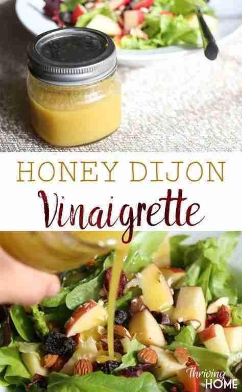 Honey Dijon Vinaigrette Salad Dressing {Only 5 Ingredients!}