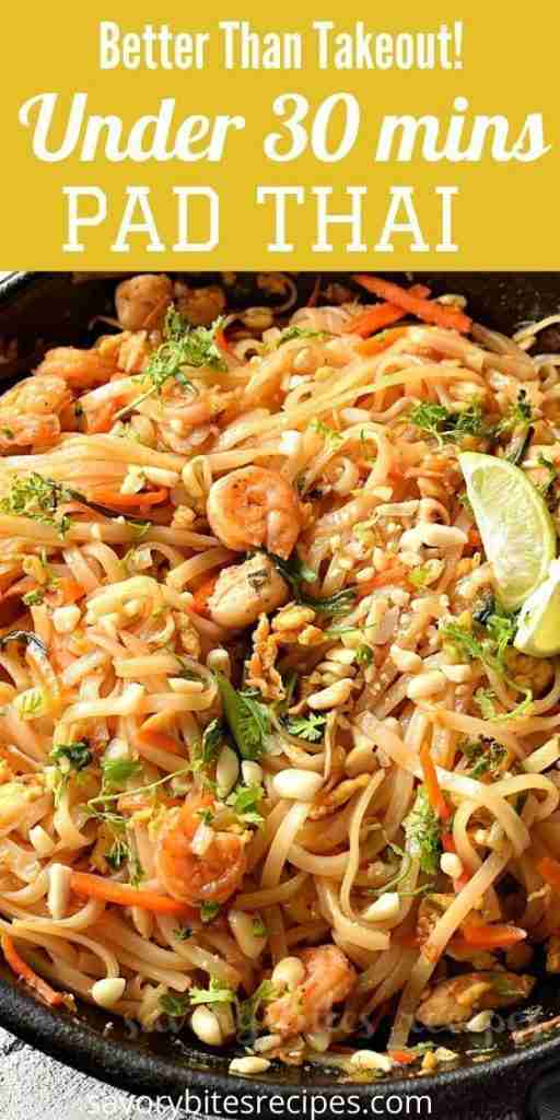 How to make the 30-minute Authentic Pad Thai Recipe
