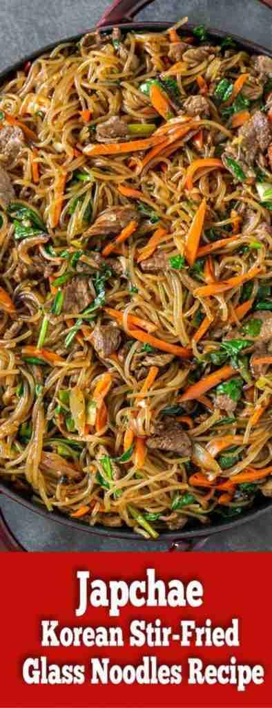 Japchae (Korean Stir-Fried Glass Noodles) – Momsdish