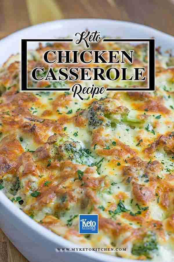 Keto Chicken Broccoli Casserole with Cheese Recipe | My Keto Kitchen