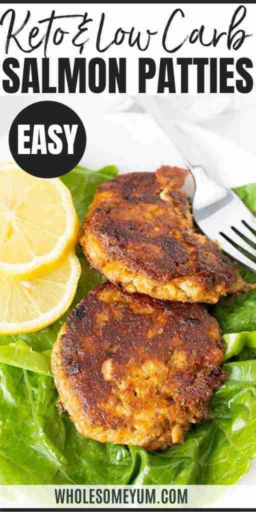 Low Carb Keto Salmon Patties Recipe (Salmon Cakes)