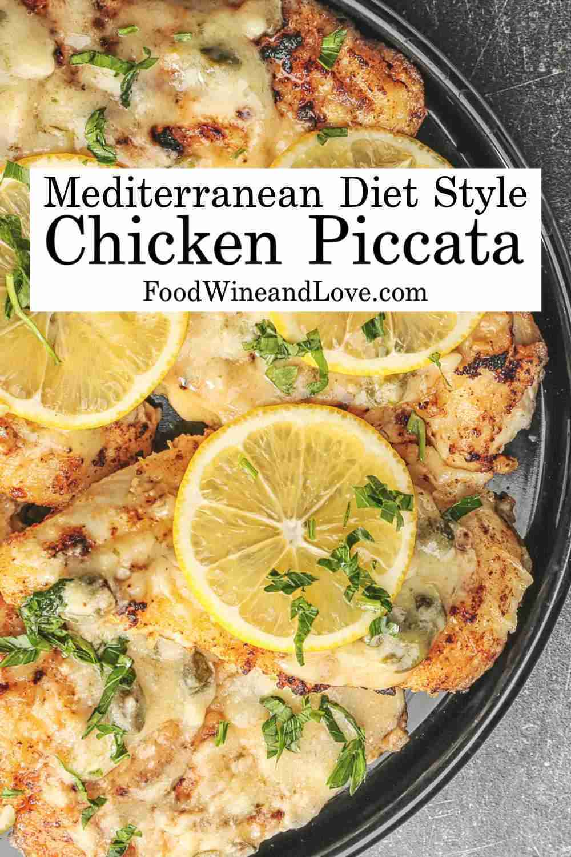 Mediterranean Style Chicken Piccata #chicken #recipe #mediterraneandiet #meddiet…