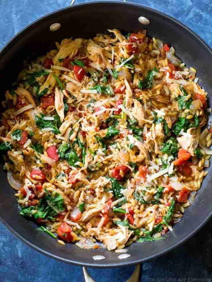 One Pan Chicken and Spinach Orzo – The Girl Who Ate Everything