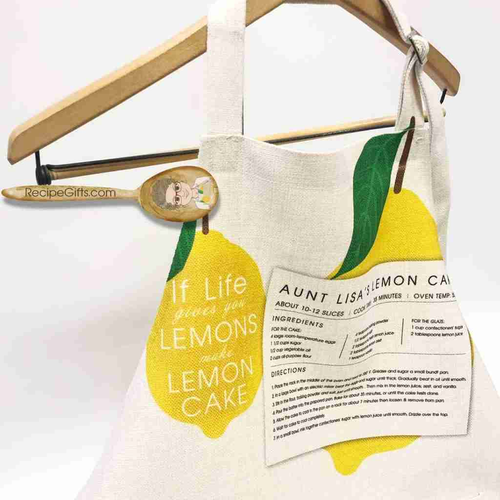 Personalized Recipe Apron Using One of Aunt Lisa's Designs