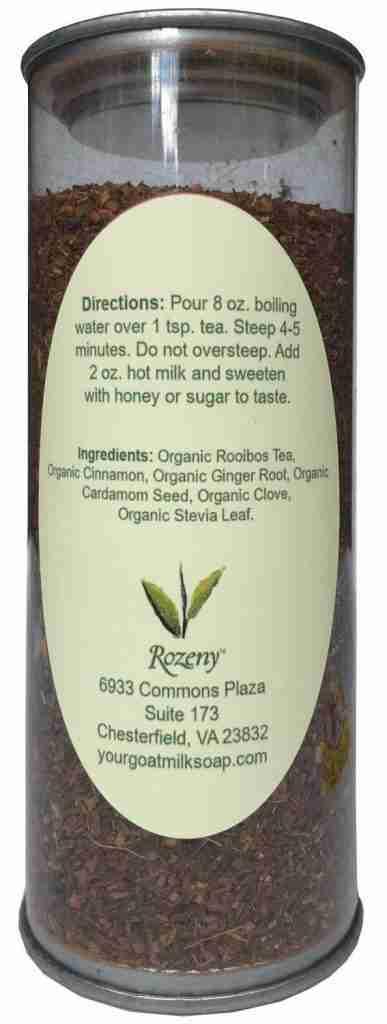 Rozeny Organic . Chai Rooibos Tea – 2 oz. Container