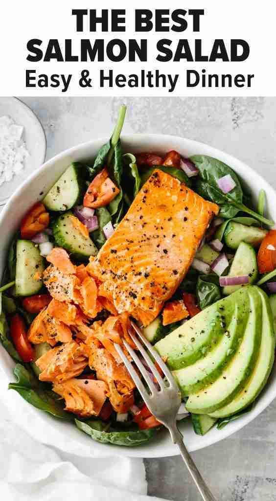 Salmon Avocado Salad (Easy & Healthy!)