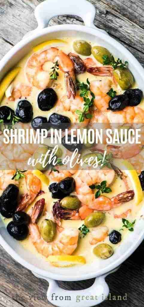 Shrimp in Lemon Sauce with Olives