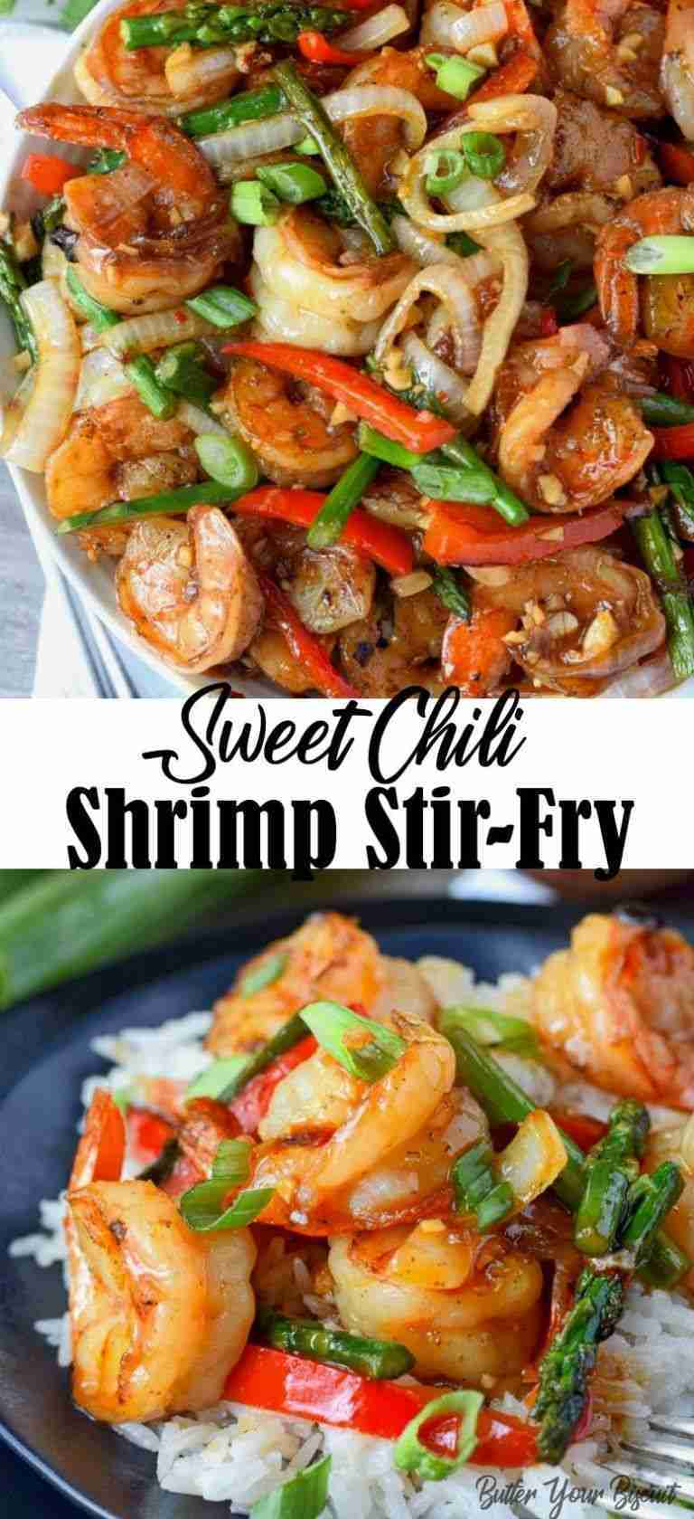 Sweet Chili Shrimp Stir Fry Easy Recipe – Butter Your Biscuit