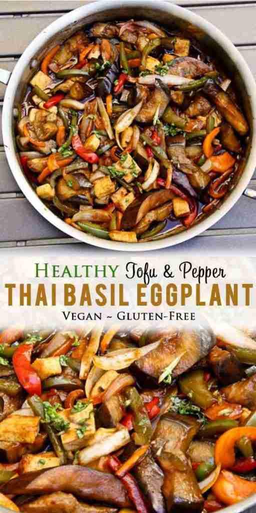 Thai Basil Eggplant (vegan, gluten-free)