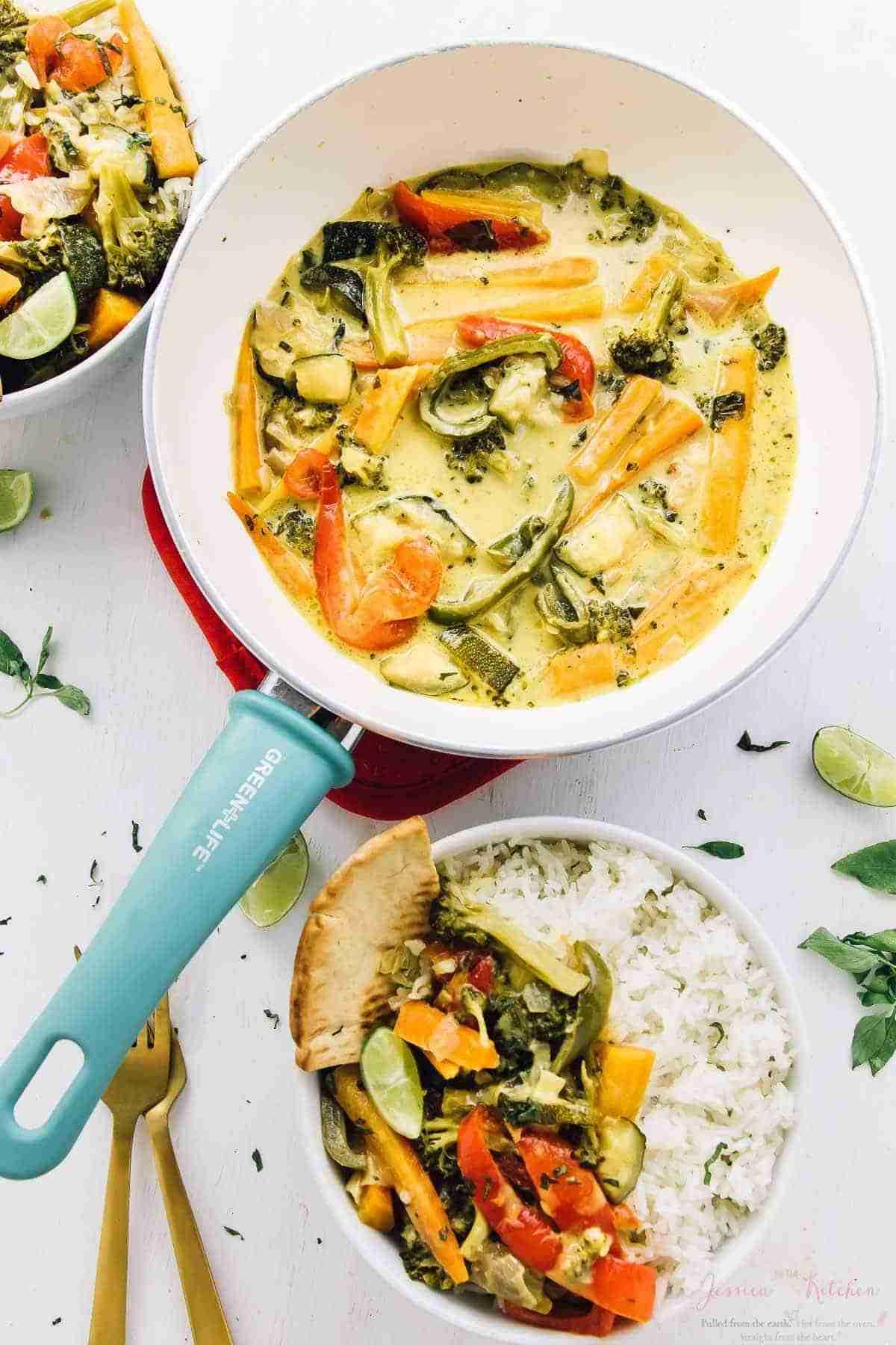 Thai Green Curry Recipe (15 Minutes Prep, Vegan & Gluten Free)