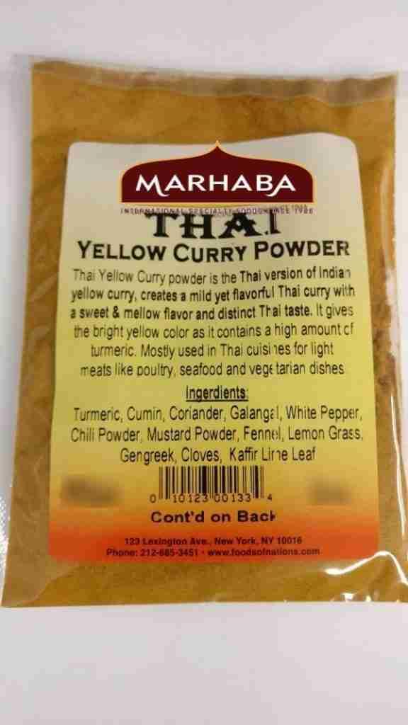 Thai Yellow Curry Powder – 16 oz