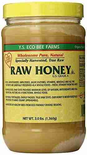 YS Eco Bee Farms RAW HONEY – Raw, Unfiltered, Unpasteurized – Kosher 3lbs – 3 Pound (Pack of 1)