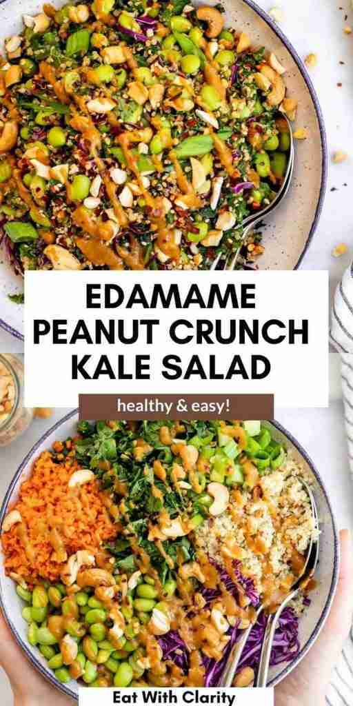 Asian Inspired Edamame Peanut Crunch Salad | Eat With Clarity