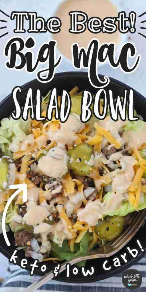 Big Mac in a Bowl (Big Mac Salad) Keto, Low Carb, GF