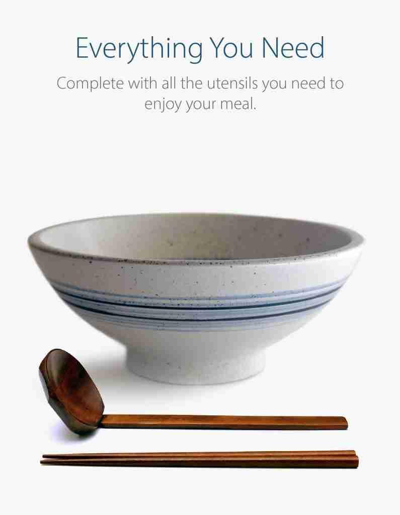 Blue Circle Ceramic 8.6″ Japanese Ramen Bowls