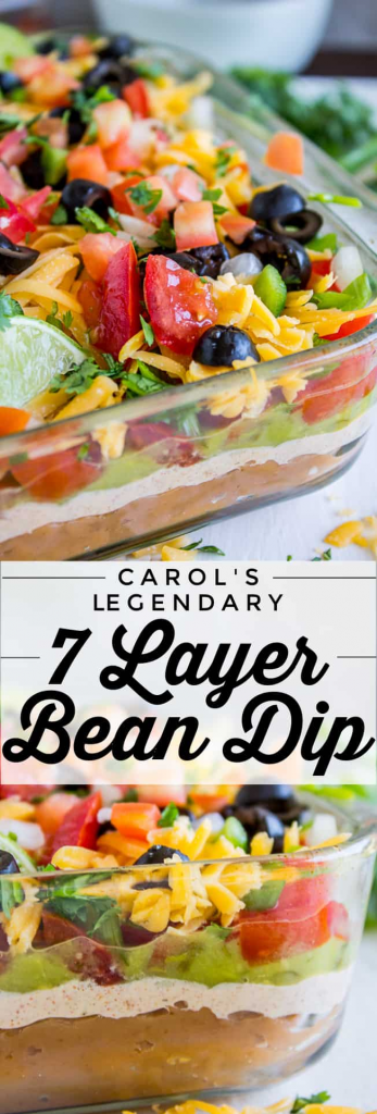 Carol's Legendary 7 Layer Dip from The Food Charlatan