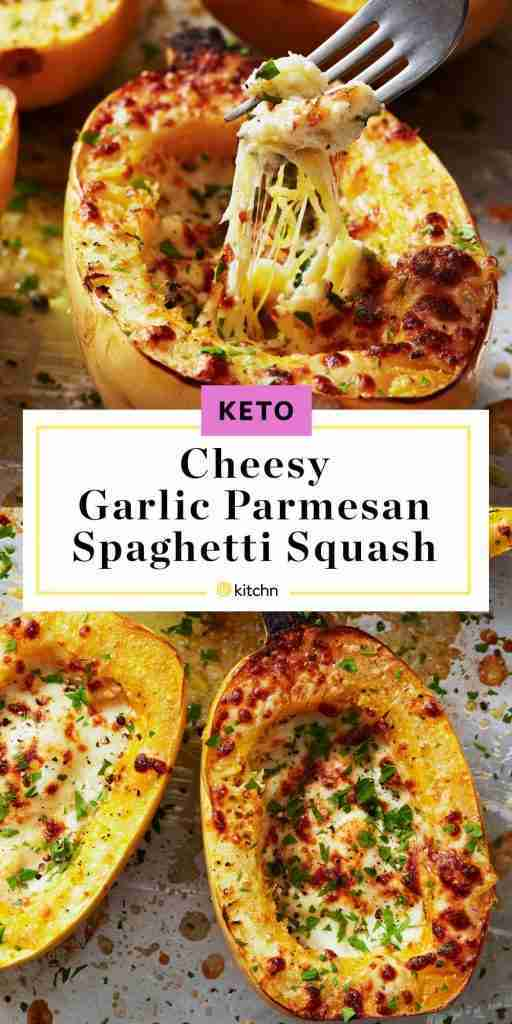 Cheesy Garlic Parmesan Spaghetti Squash Is the Ultimate Keto Side