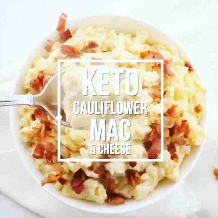 Cheesy Keto Cauliflower & Bacon