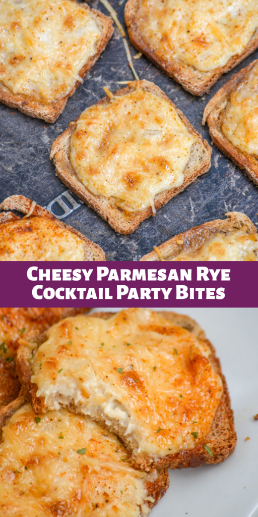 Cheesy Parmesan Rye Cocktail Party Bites – 4 Sons 'R' Us