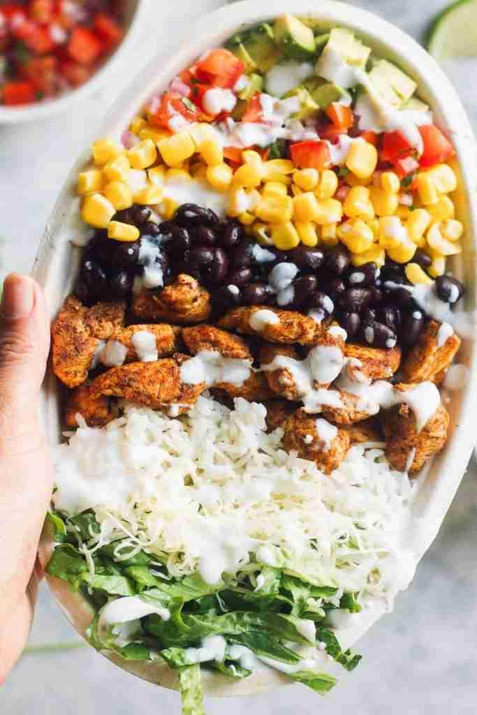 Chicken Burrito Bowl Recipe (Chipotle Copycat) – Easy Chicken Recipes (HOW TO VI…