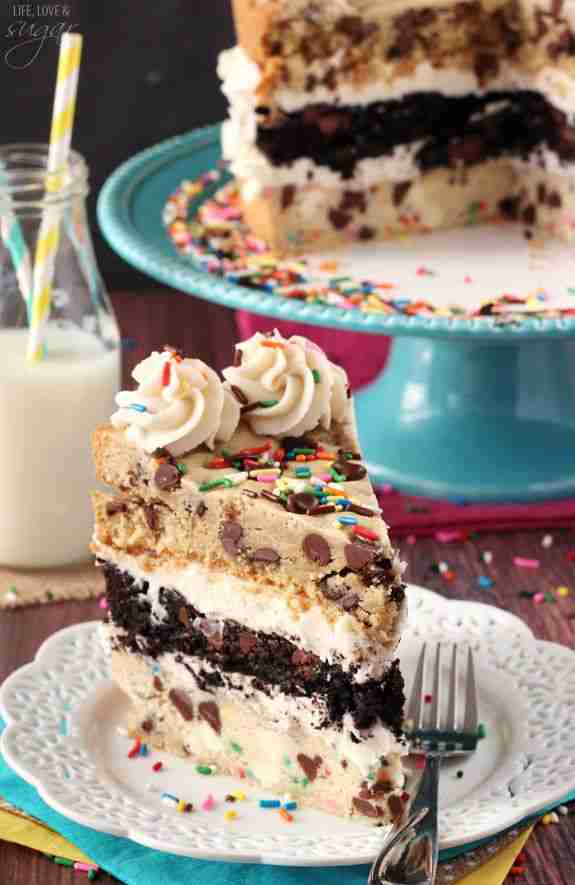Chocolate Chip Cookie Layer Cake | The Ultimate Cookie Cake Recipe