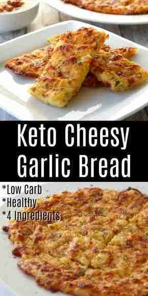 Craving garlic bread? This Keto cheesy Garlic Bread recipe is low carb and you d…