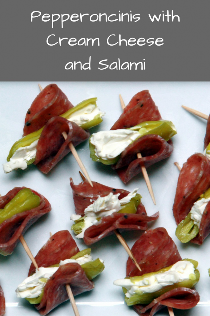 Easy Appetizer Recipe: Pepperoncinis with Cream Cheese and Salami – Yummy Lil' Things