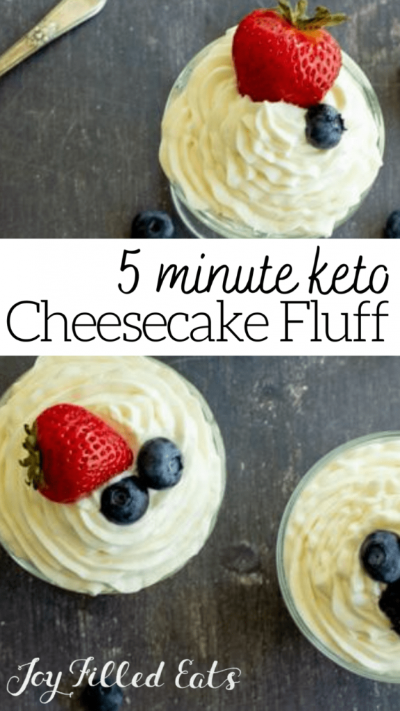 Easy Cheesecake Fluff – Keto, Low Carb, Sugar-Free, THM S