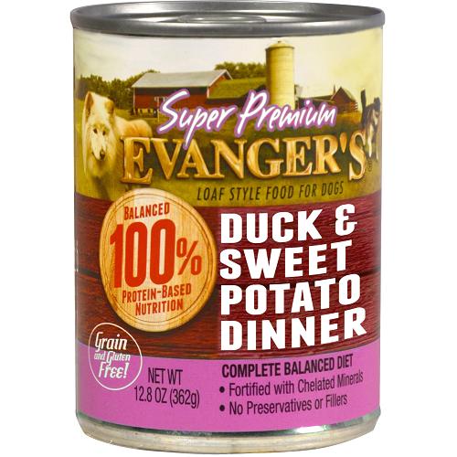 Evanger's Super Premium Duck & Sweet Potato Dinner for Dogs – 12.8 Oz can