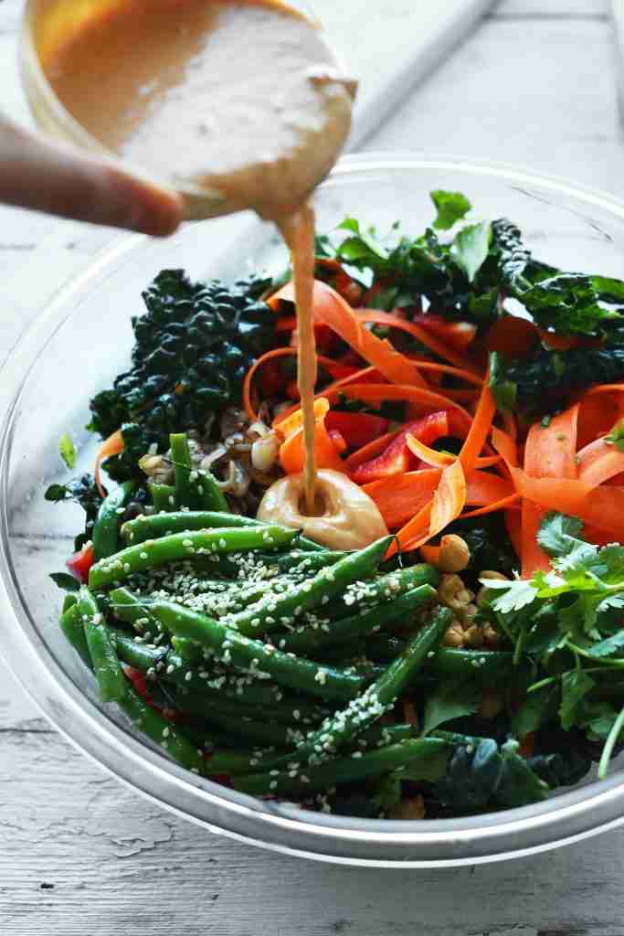 Gingery Kale Salad with Cashew Dressing