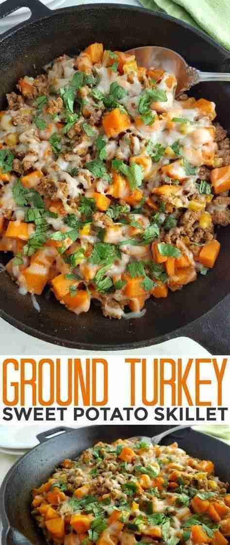 Ground Turkey Sweet Potato Skillet – Life Love Liz