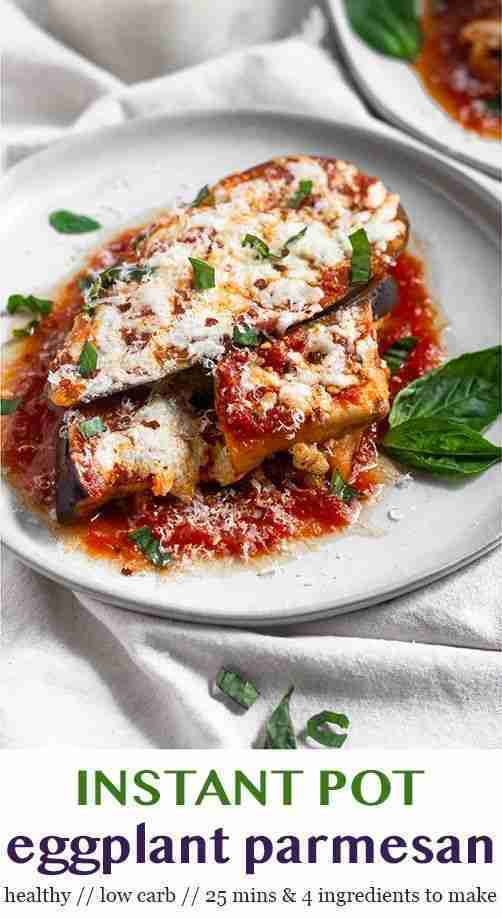 Healthy Instant Pot Eggplant Parmesan