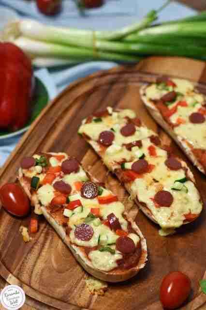 Home Made Pizzabaguette – der perfekte Snack