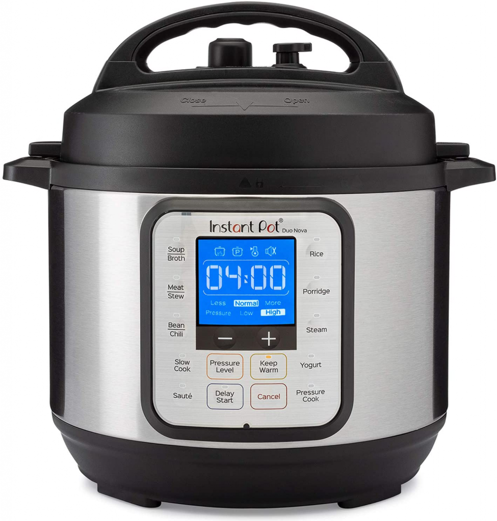 Instant Pot Duo Nova 7-in-1 Electric Pressure Cooker, Slow Cooker, Rice Cooker, Steamer, Saute, Yogurt Maker, 3 Quart, 14 One-Touch Programs, Best For Beginners – Duo Nova / Pressure Cooker / 3-QT
