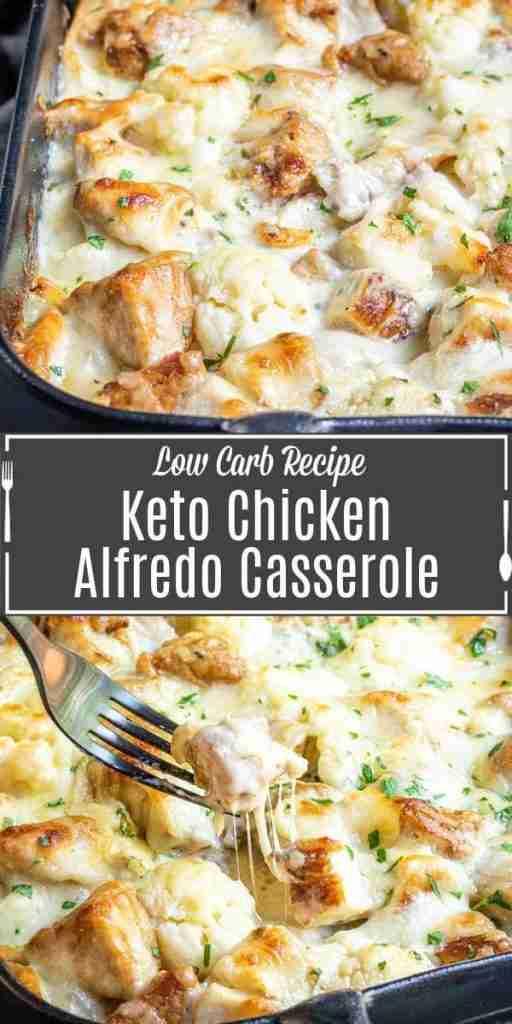 Keto Chicken Alfredo Casserole Recipe | Home. Made. Interest.