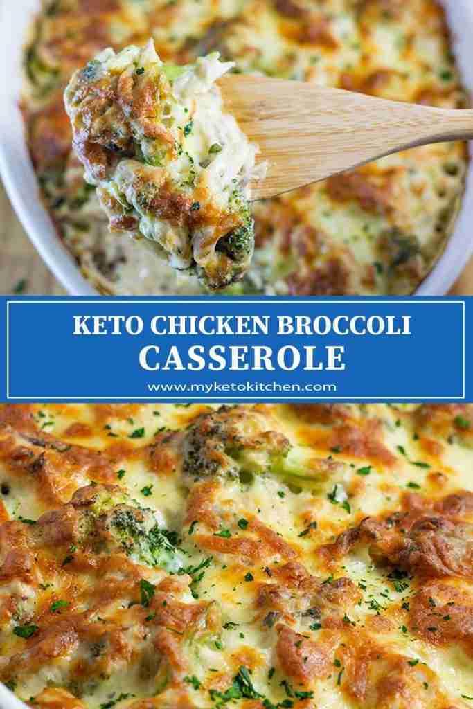 """Keto Chicken Broccoli Casserole – """" Cheese & Creamy"""" – Easy & Hot!"""