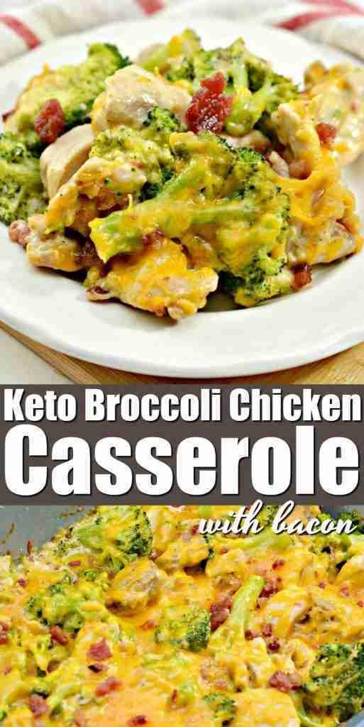 Keto Chicken Broccoli Casserole With Bacon Recipe #ketobroccolichickencasserole …