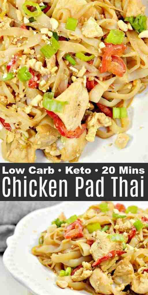 Keto Chicken Pad Thai Recipe #ketopadthai #ketochickenpadthai #padthai