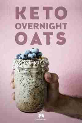 """Keto Overnight """"Oats"""" with Coconut and Blueberries"""