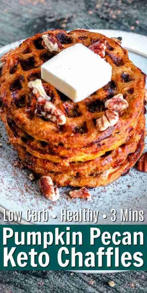 Keto Pumpkin Chaffle Recipe #ketopumpkinchaffle #pumpkinchaffles