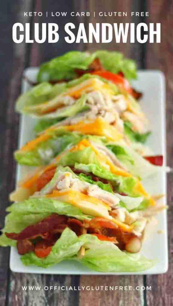 Low Carb Chicken Club Sandwich | Keto recipes dinner, Keto diet recipes, Keto recipes easy