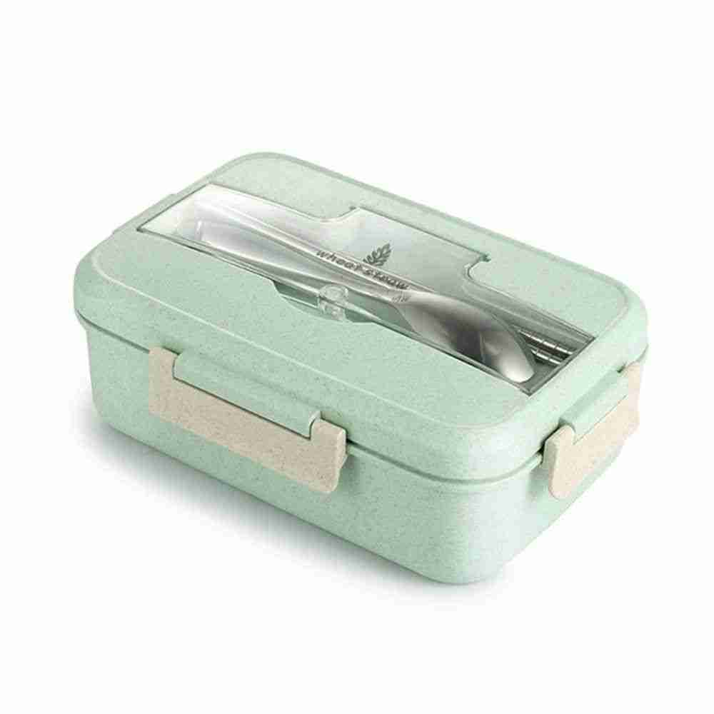 Lunch Box Bento Box  Sealed Plastic Box for Food – Green