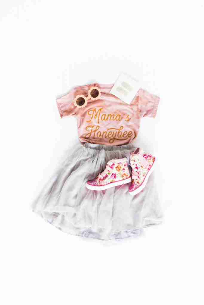 Mama's Honeybee T-shirt in Bleached Mauve – Bleached Mauve / 5T