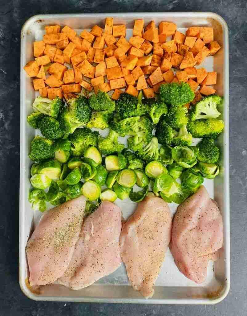 One Pan Chicken and Veggies {Sheet Pan Meal Prep}