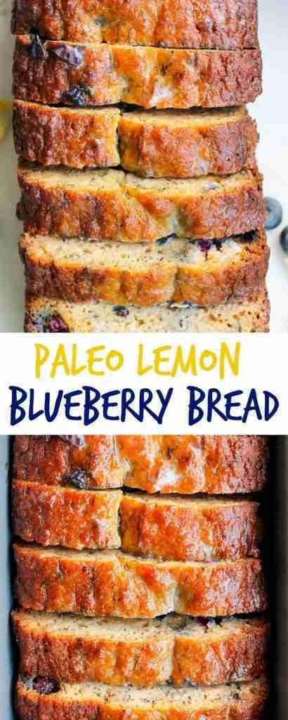 Paleo Lemon Blueberry Bread – Smile Sandwich
