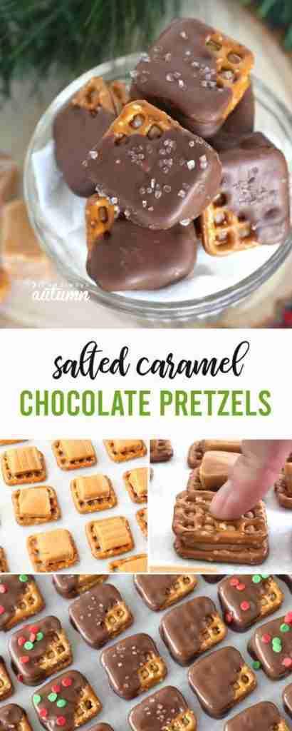 Salted Caramel Chocolate Pretzel recipe {these are AMAZING}